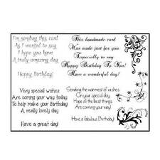 Creative Expressions Sentimentally Yours A5 Clear Stamp Birthday Verse - SYBVC