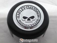 Harley Davidson Skull Hupe rund Schwarz matt Hupen Abdeckung Skull Horn Cover