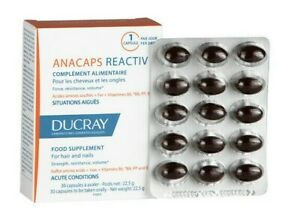 Ducray ANACAPS REACTIV food supplement hair loss and nails 30 caps 1month supply