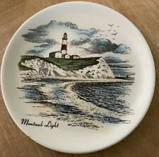 Montauk Point Lighthouse Ny Artist H R Diamond souvenir 7.25 Inch Plate
