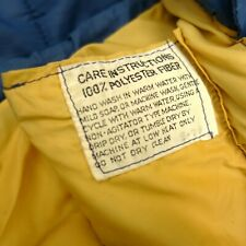 The North Face Vintage Blue Yellow Polyester Sleeping Bag Camping Hammock Reg