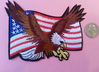 United States Flying American Eagle American flag iron on patch biker motorcycle