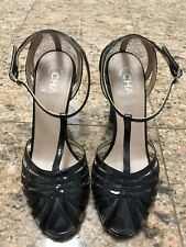 Rare Runway Chanel Architectural Heel Sandals (Size 37)