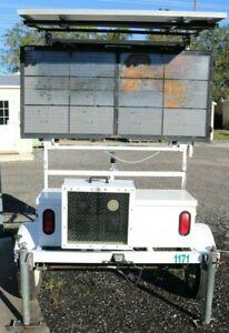 InstAlert Rapid Messenger Board On ATS5 Trailer with Sentry 12 Speed Radar