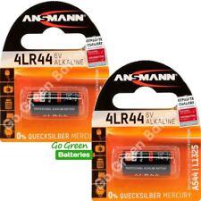 2 x Ansmann 4LR44 6V Alkaline High Performance Battery 476A PX28A A544 3131