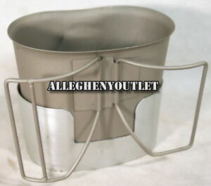 Stainless Steel BUTTERFLY CANTEEN CUP and OPEN BOTTOM MRE STOVE / STAND NEW