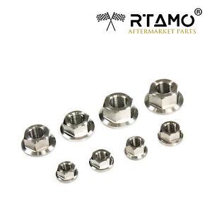 RTAMO   M8 M10 M12 M14 M16 M18 Various Size Titanium Alloy Gr5 Hex Flange Nuts