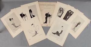 Antique ORTHOCHROMES BY MAJESKA Art Deco Avant Garde Nude Woman Lesbian Prints