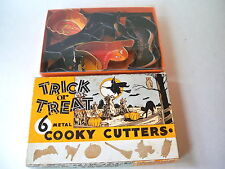 Trick or Treat Halloween 6 Metal Cookie Cutters Original Box + Williams Sonoma