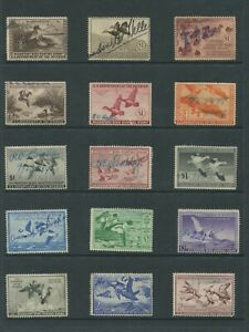 United States Federal Hunting Duck Stamps #RW6-RW50 Used Generally F/VF Set