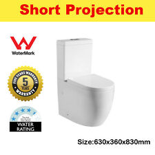 Deluxe Royal High Quality White Ceramic Compact Wall Faced Toilet Suite
