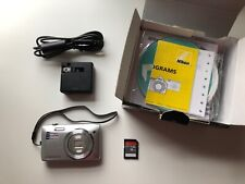 Nikon COOLPIX S3500 20.1MP Silver Digital Camera with Accessories