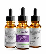 100% Pure Hyaluronic Acid Serum w/ Vitamin C+E+Collagen Antioxidant,Anti-Aging
