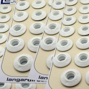 100 White Plastic Snap Eyelets 12mm, Washer Sealed for Tarpaulin & Groundsheets