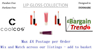 Cool Cos Denmark Paraben Parfum Free Cosmetic LIP GLOSS Collection #BargainTrend