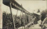 White Mtns Frankenstein RR Train Trestle Crawford Notch Real Photo Postcard