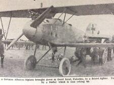 f1a ephemera 1919 picture gozel bazel palestine downed german plane