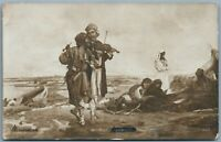 VIOLIN PLAYERS RUSSIAN 1915 ANTIQUE REAL PHOTO POSTCARD RPPC