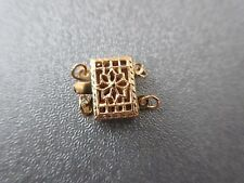 14K Gold Filled 2 Strand Rectangle Filigree Box Clasp 1pc