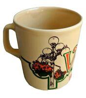 Victoria British Columbia Coffee Mug D Handle Made England Yellow Ceramic