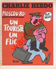 Charlie Hebdo n°506 du 30/07/1980 Jeux olympiques Moscou Reiser Coluche