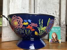 New listing The Pioneer Woman Large 5 Qt. Colander Celia Enamel On Steel Blue Floral New