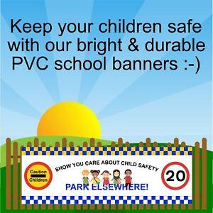 Park elsewhere Bright school road safety warning banner 9400 safer schools