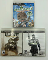 Playstation 3 ** lot of 3 ** Little Big Planet 2, Call of Duty MW3,  Adv.Warfare