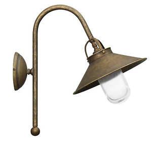 Lampe de Mur Extérieur Lampe Laiton Verre Antique Bronze Premium Maritime Main