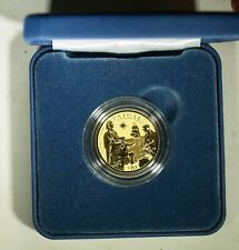 2020 Mayflower 400th Anniversary REVERSE PROOF Gold $10 coin - OGP, COA