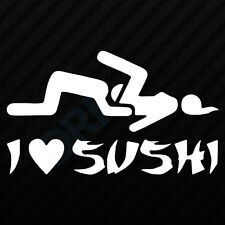 I love sushi funny novelty voiture fenêtre pare-chocs jdm vw euro vinyl decal sticker