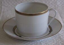 Limoges Christofle Ruban Grande Copa y platillo de desayuno