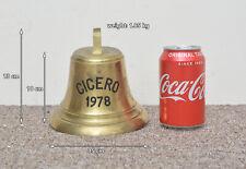 Campana De Barco De Bronce Antiguo Vintage Bronce barcos Bell-Cicero 1972-Entrega Gratuita