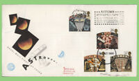 G.B. 1990 Astronomy set on Royal Mail First Day Cover, Stampex slogan