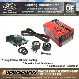Gates Water Pump & Timing Belt Kit for Citroen C4 Grand Picasso Dispatch