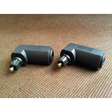 2 x Toslink Digital Optical 90 Degree Right Angle Audio Adapter