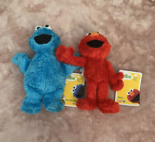 "Playskool 8"" Sesame Street ELMO / COOKIE MONSTER Character Micro Plush Cbeebies"