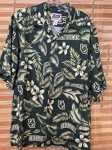 Reyn Spooner L UC Oregon Ducks Hawaiian Style Shirt Rayon by Reyn Sports