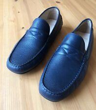 EUR 45 ECCO Hybrid Moccasin (Mens) Leather Shoes Navy Blue