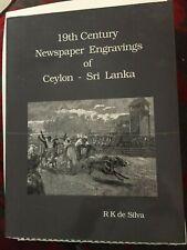 19th Century Newspaper Engravings of Ceylon Sri Lanka  RK de Silva