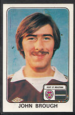 Panini 1979 Football Sticker - No 479 - John Brough - Heart of Midlothian
