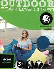 LIVING SPACE OUTDOOR TEAL (BLUE GREEN) BEAN BAG COVER NEW