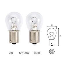 2 x 382 P21W BA15S Brake Stop Light Car Bulb 12v 21w - Single Filament