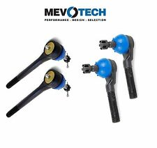 Chevy Set of Pairs Front Inner & Outer Heavy Duty Forging Tie Rod End Mevotech