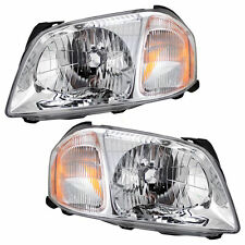 01-04 Mazda Tribute Headlamps Headlights Pair Set Left & Right New