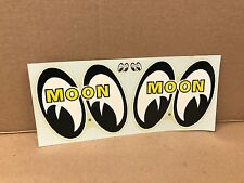 "VINTAGE ORIGINAL1960'S MOON EYES  WATER TRANSFER DECAL LARGE SIZE 10"" X 4.5"""