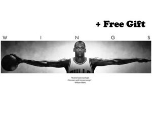 "Michael Jordan Wings Black & White Poster 62"" x 24"""