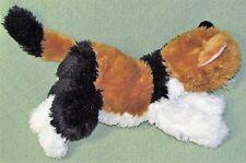 """14"""" Animal Alley CALICO CAT Plush Floppy Stuffed Animal Kitty White Black Tan"""