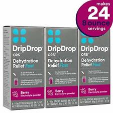 Dripdrop ORS Electrolyte Hydration Powder Sticks Berry Individual 10G 24 Count