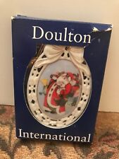 1994 Doulton International Victorian Whimsies Patchwork Santa Ornament
